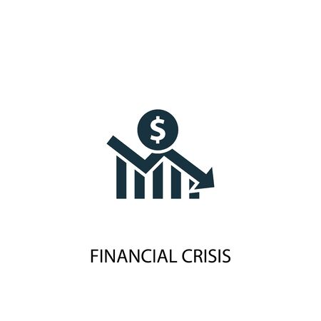 financial crisis icon. Simple element illustration. financial crisis concept symbol design. Can be used for web Stockfoto - 130224191