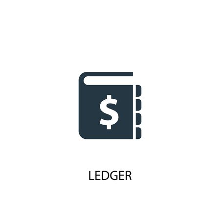 ledger icon. Simple element illustration. ledger concept symbol design. Can be used for web Illustration