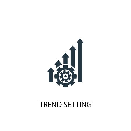 trend setting icon. Simple element illustration. trend setting concept symbol design. Can be used for web Ilustrace