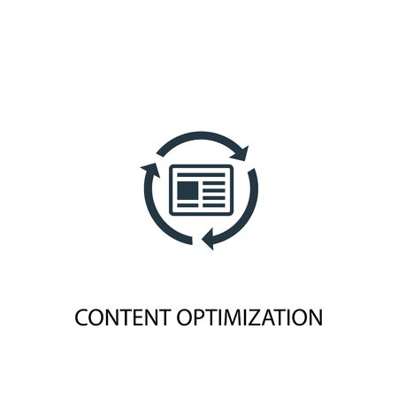 Content Optimization icon. Simple element illustration. Content Optimization concept symbol design. Can be used for web