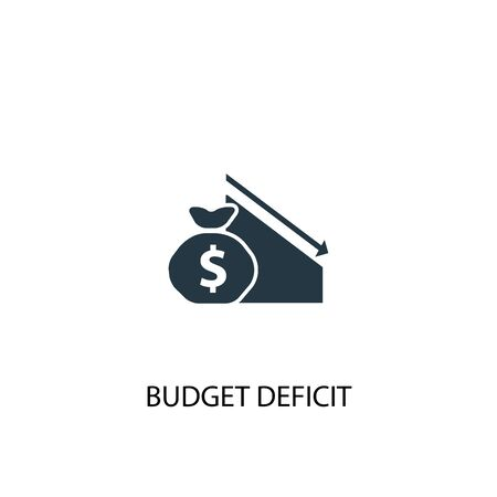 budget deficit icon. Simple element illustration. budget deficit concept symbol design. Can be used for web and mobile.  イラスト・ベクター素材