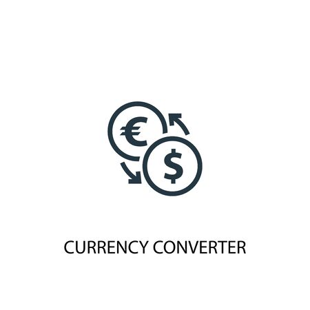 currency converter icon. Simple element illustration. currency converter concept symbol design. Can be used for web and mobile. Illustration