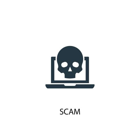 scam icon. Simple element illustration. scam concept symbol design. Can be used for web and mobile. Foto de archivo - 130224219