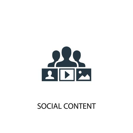 social content icon. Simple element illustration. social content concept symbol design. Can be used for web and mobile.
