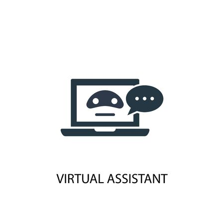 virtual Assistant icon. Simple element illustration. virtual Assistant concept symbol design. Can be used for web and mobile. Illustration