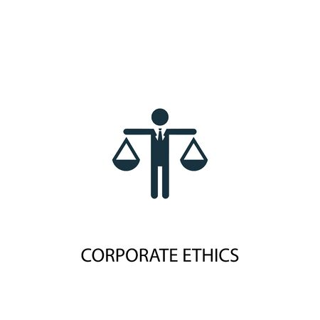corporate ethics icon. Simple element illustration. corporate ethics concept symbol design. Can be used for web Stok Fotoğraf - 130224241