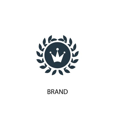 brand icon. Simple element illustration. brand concept symbol design. Can be used for web