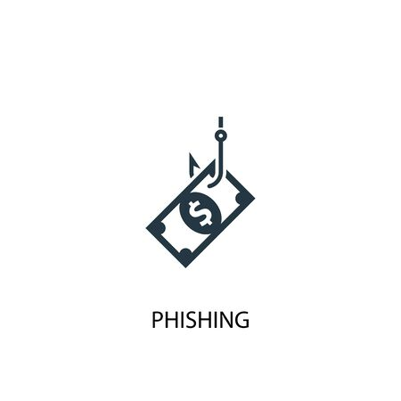 phishing icon. Simple element illustration. phishing concept symbol design. Can be used for web