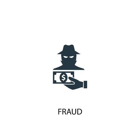 fraud icon. Simple element illustration. fraud concept symbol design. Can be used for web Çizim