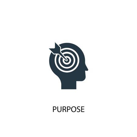 icono de propósito. Ilustración de elemento simple. diseño de símbolo de concepto de propósito. Puede usarse para web