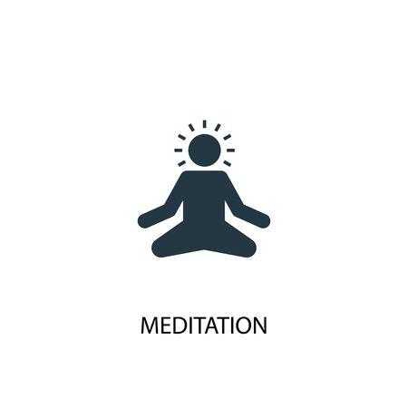 icono de meditación. Ilustración de elemento simple. diseño de símbolo de concepto de meditación. Puede usarse para web Ilustración de vector
