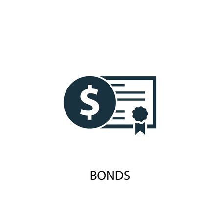 Bonds icon. Simple element illustration. Bonds concept symbol design. Can be used for web Illusztráció