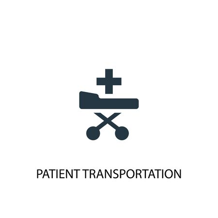 patient Transportation icon. Simple element illustration. patient Transportation concept symbol design. Can be used for web