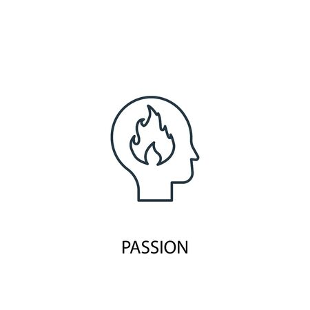 passion concept line icon. Simple element illustration. passion concept outline symbol design. Can be used for web and mobile Foto de archivo - 130223912