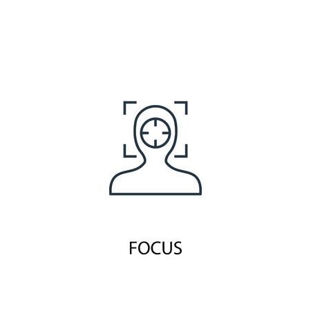 focus concept line icon. Simple element illustration. focus concept outline symbol design. Can be used for web and mobile