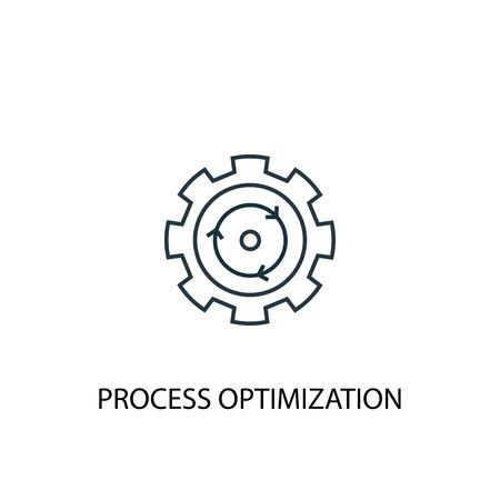 process optimization concept line icon. Simple element illustration. process optimization concept outline symbol design. Can be used for web and mobile