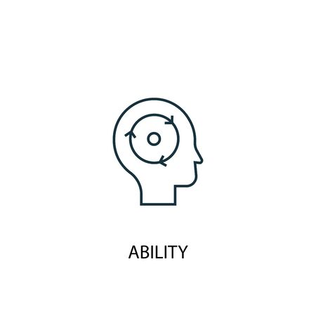 ability concept line icon. Simple element illustration. ability concept outline symbol design. Can be used for web and mobile