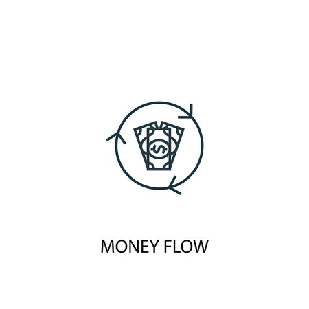 money flow concept line icon. Simple element illustration. money flow concept outline symbol design. Can be used for web and mobile