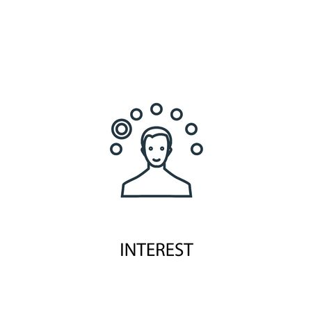 interest concept line icon. Simple element illustration. interest concept outline symbol design. Can be used for web and mobile