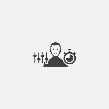 Discipline base icon. Simple sign illustration. Discipline symbol design. Can be used for web, and mobile 向量圖像