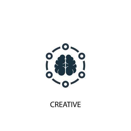 Creative icon. Simple element illustration. Creative concept symbol design. Can be used for web