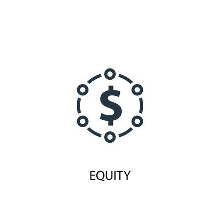 equity icon. Simple element illustration. equity concept symbol design. Can be used for web