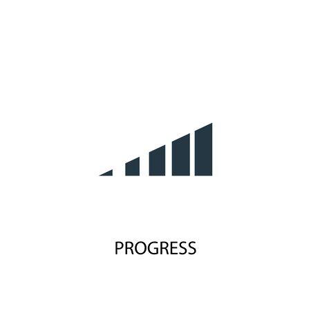 progress icon. Simple element illustration. progress concept symbol design. Can be used for web Illustration