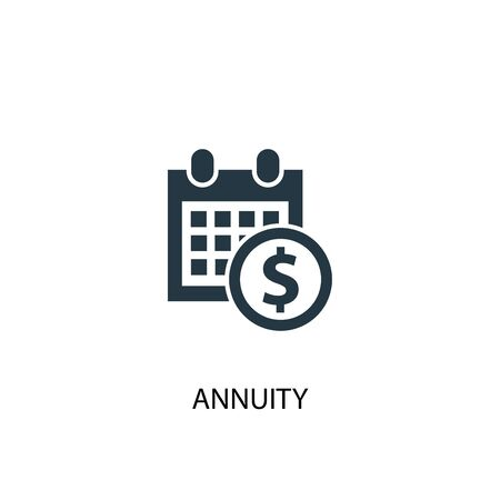 annuity icon. Simple element illustration. annuity concept symbol design. Can be used for web