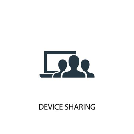 device sharing icon. Simple element illustration. device sharing concept symbol design. Can be used for web