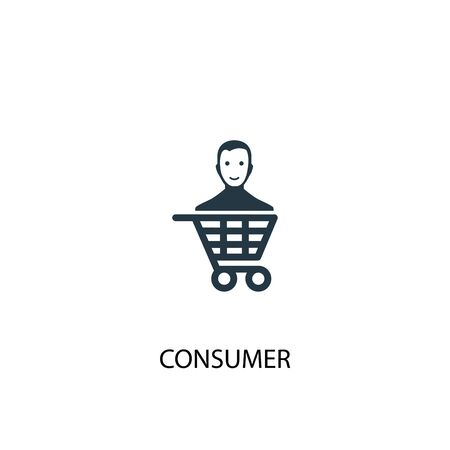 consumer icon. Simple element illustration. consumer concept symbol design. Can be used for web