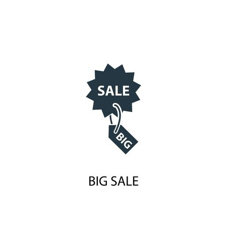 big sale icon. Simple element illustration. big sale concept symbol design. Can be used for web