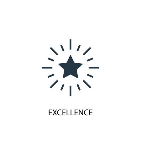 excellence icon. Simple element illustration. excellence concept symbol design. Can be used for web