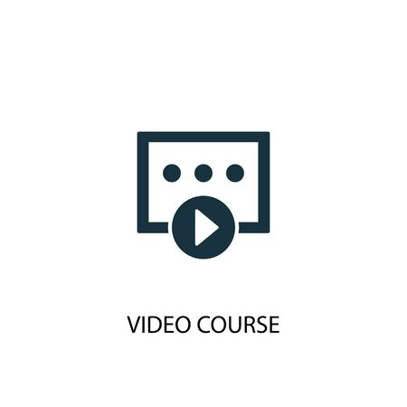 video course icon. Simple element illustration. video course concept symbol design. Can be used for web Illustration