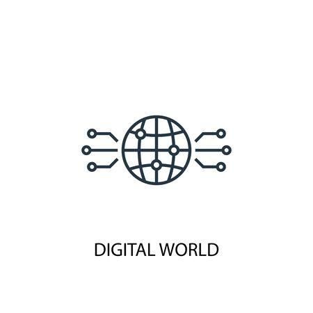 digital world icon. Simple element illustration. digital world concept symbol design. Can be used for web