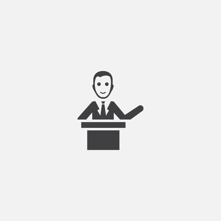 lecturer base icon. Simple sign illustration. lecturer symbol design. Can be used for web, and mobile