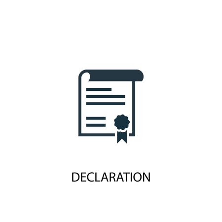 declaration icon. Simple element illustration. declaration concept symbol design. Can be used for web