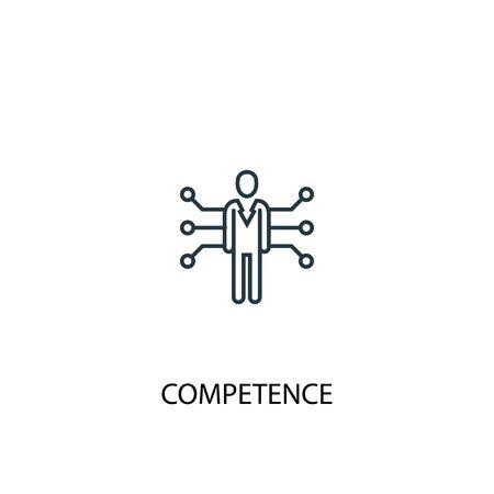 icona della linea del concetto di competenza. Illustrazione semplice dell'elemento. disegno di simbolo di contorno del concetto di competenza. Può essere utilizzato per l'interfaccia utente web e mobile