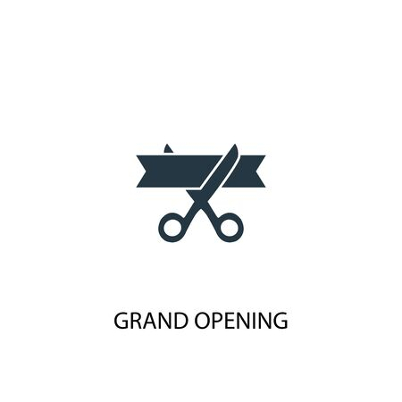 grand opening icon. Simple element illustration. grand opening concept symbol design. Can be used for web