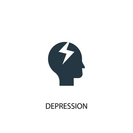 depression icon. Simple element illustration. depression concept symbol design. Can be used for web