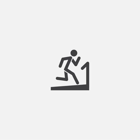 fitness base icon. Simple sign illustration. fitness symbol design. Can be used for web, and mobile Ilustracja