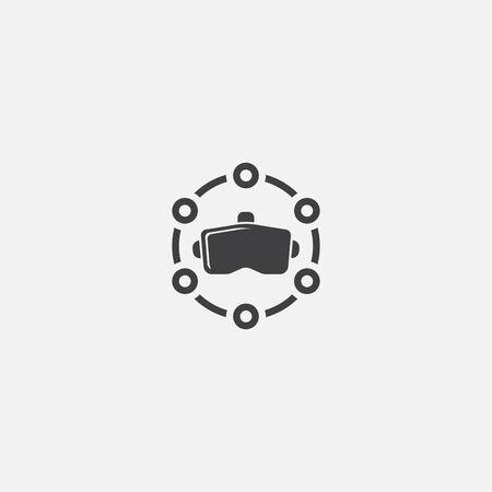 VR platform base icon. Simple sign illustration. VR platform symbol design. Can be used for web, and mobile