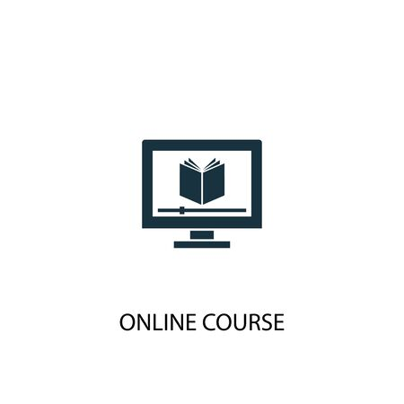 online course icon. Simple element illustration. online course concept symbol design. Can be used for web