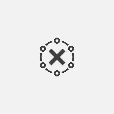 rejected base icon. Simple sign illustration. rejected symbol design. Can be used for web, and mobile Ilustrace