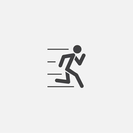 running base icon. Simple sign illustration. running symbol design. Can be used for web, and mobile