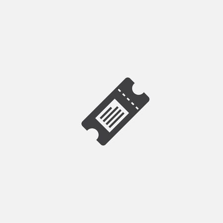 Ticket base icon. Simple sign illustration. Ticket symbol design. Can be used for web, and mobile  イラスト・ベクター素材