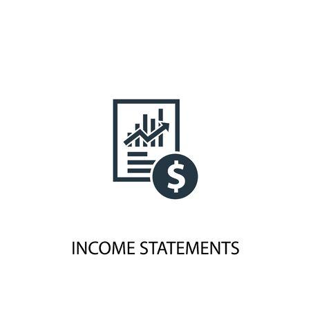 icona di dichiarazione dei redditi. Illustrazione semplice dell'elemento. disegno di simbolo di concetto di dichiarazioni di reddito. Può essere utilizzato per il web Vettoriali