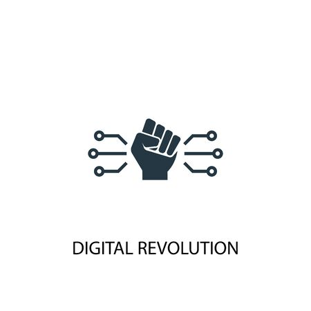 digital revolution icon. Simple element illustration. digital revolution concept symbol design. Can be used for web