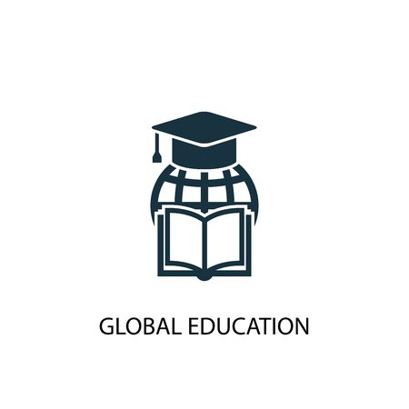 Symbol für globale Bildung. Einfache Elementabbildung. globales Bildungskonzept Symboldesign. Kann für Web verwendet werden