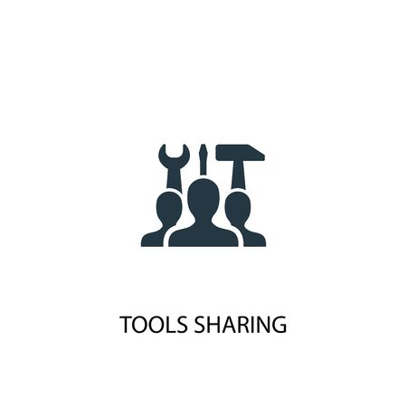 tools sharing icon. Simple element illustration. tools sharing concept symbol design. Can be used for web