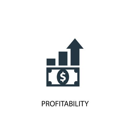 Profitability icon. Simple element illustration. Profitability concept symbol design. Can be used for web Stock Illustratie